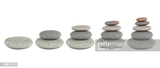 Pebbles used to illustrate growth.