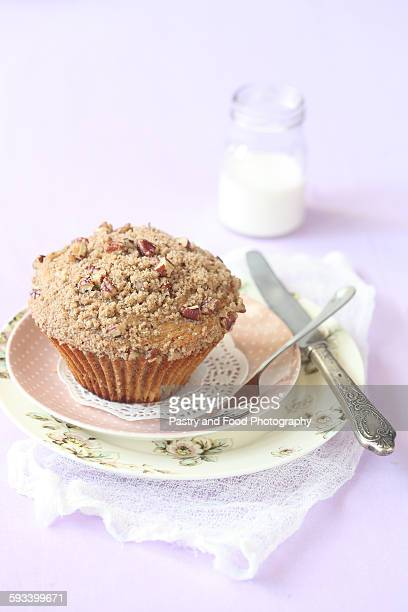 Pecan muffin with streusel topping