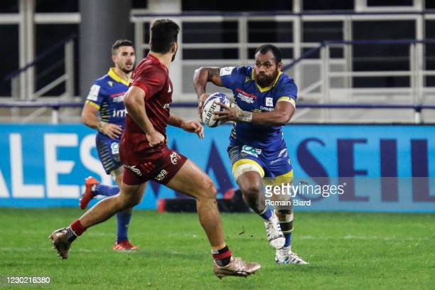 Peceli YATO of Clermont during the European Rugby Champions Cup match between ASM Clermont Auvergne and Munster at Marcel-Michelin Stadium on...