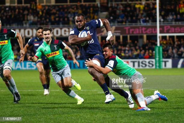 Peceli YATO of Clermont during the European Rugby Champions Cup, Pool 3 match between ASM Clermont Auvergne and Harlequin FC on November 16, 2019 in...