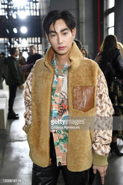 Peck Palit attends the Coach 1941 fashion show during February 2020 New York Fashion Week on February 11 2020 in New York City