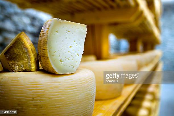 pecorino on a shelf
