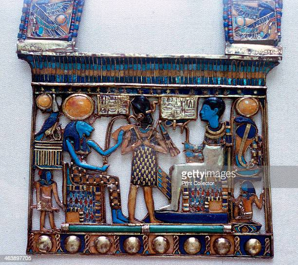 Pectoral jewel from the tomb of Tutankhamun, Ancient Egyptian, c1325 BC. Pectoral showing Ptah, creator of the universe and patron of craftsmen, and...