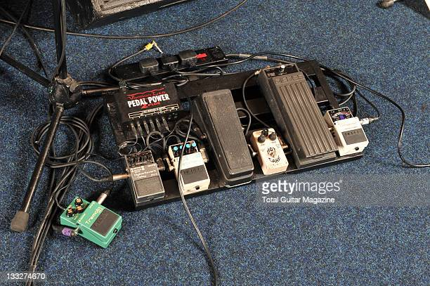 Pedal board belonging to English musician Steve Cradock frontman with indie group Ocean Colour Scene taken on January 19 2009 in London