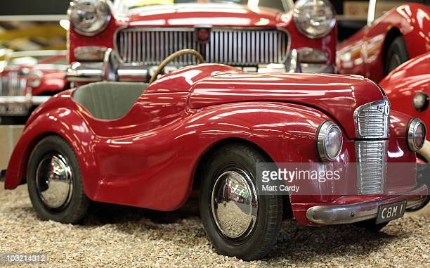 A pedal car at the Haynes Motor Museum is displayed in the Red Room a collection of over 50 red cars on August 3 2010 in Yeovil England The museum...