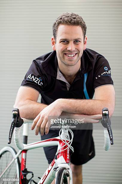 Pedalthon founder Simon Clarke poses during the Below The Belt Pedalthon Launch at Moore Park on August 29, 2014 in Sydney, Australia.