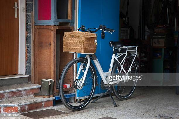 Pedelec / ebike / electric bicycle parked at home