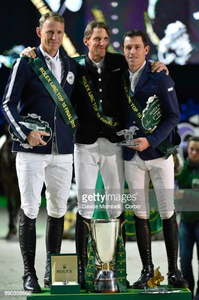 LR Peder Fredricson Kevin STAUT of France Scott Brash during the prize giving cerimony 17th Rolex IJRC Top 10 Final International Jumping Competition...