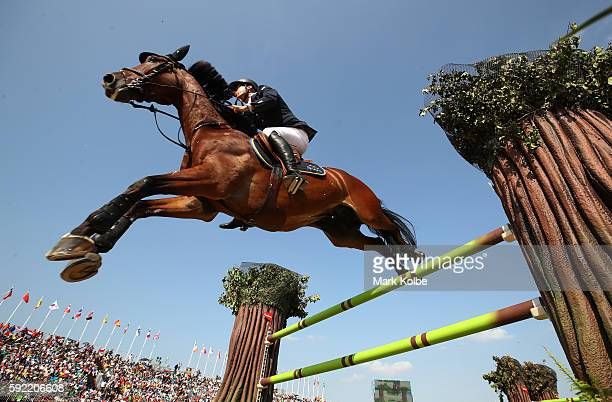 Peder Fredricson of Sweden riding All in competes during the Equestrian Jumping Individual Final Round on Day 14 of the Rio 2016 Olympic Games at the...