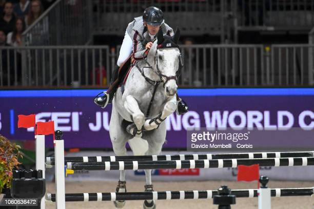 Peder Fredricson of Sweden riding Catch Me Not S during the Longines FEI Jumping World Cup Verona 2018 CSI5*W on October 28 2018 in Verona Italy