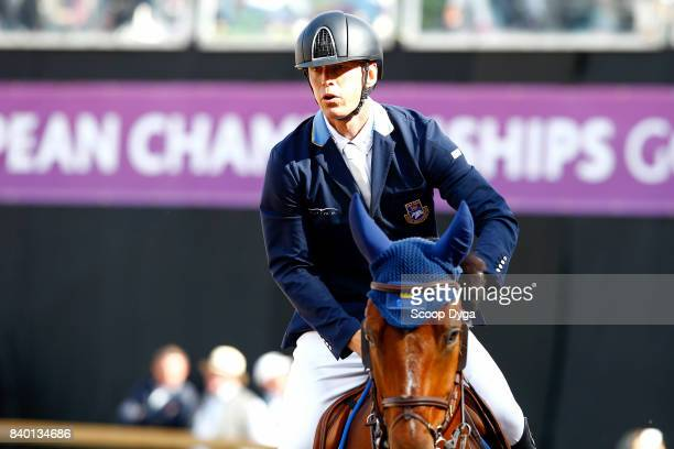Peder Fredricson riding HM All In during Jumping Individual Final of the Equestrian European Championships on August 27 2017 in Gothenburg Sweden