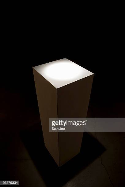 pedestal for display of art or objects - pedestal stock pictures, royalty-free photos & images