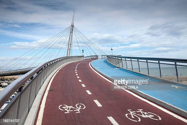 Pedestrian and cycle bridge in Pescara, Abruzzo, Italy