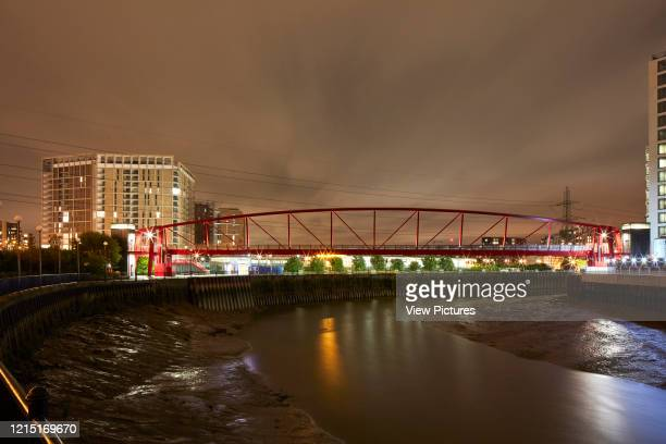 Pedestrian bridge and Bow Creek in Canning Town Canning Town London United Kingdom Architect N/A 2017