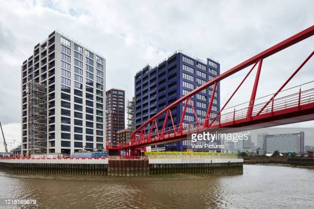 Pedestrian bridge in crossing Bow Creek Canning Town Canning Town London United Kingdom Architect N/A 2017