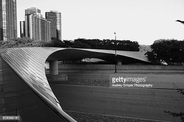 BP Pedestrian Bridge in Millenium Park Chicago
