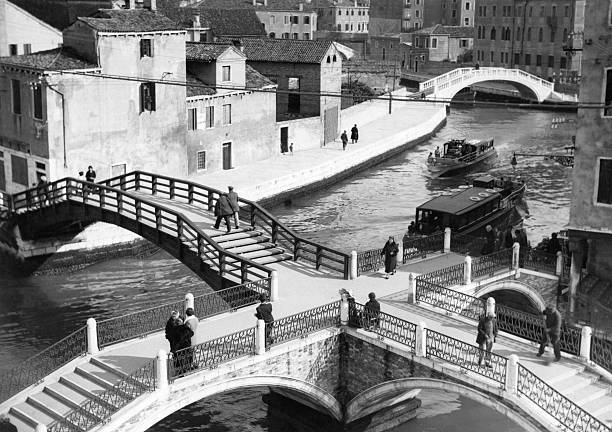Pedestrian Bridges Over Canals In Venice, Italy