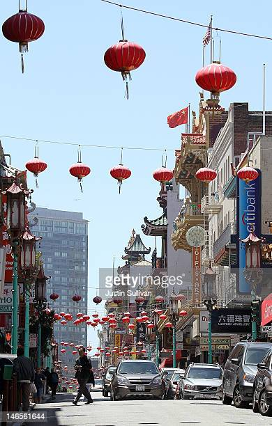 A pedestrian crosses Grant Street in Chinatown on June 19 2012 in San Francisco California According to a study released today by the Pew Research...