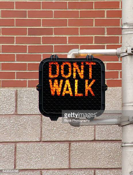 """pedestrian crossing, """"don't walk"""" signal - walk don't walk signal stock pictures, royalty-free photos & images"""