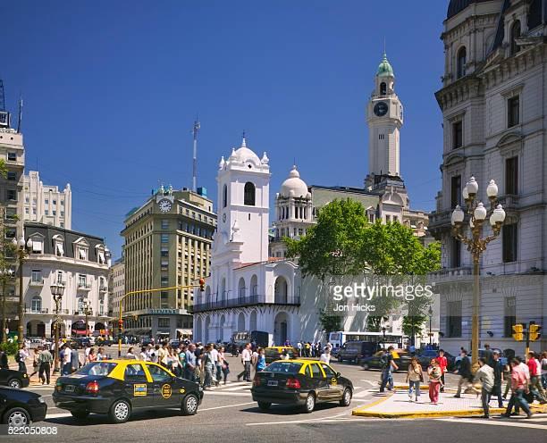 Pedestrian Crossing in Plaza de Mayo