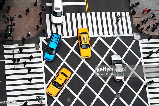 Pedestrian crossing street
