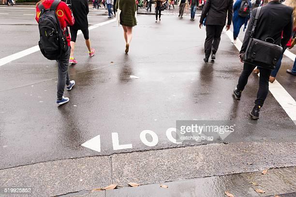 Pedestrian Crossing, Sydney Australia