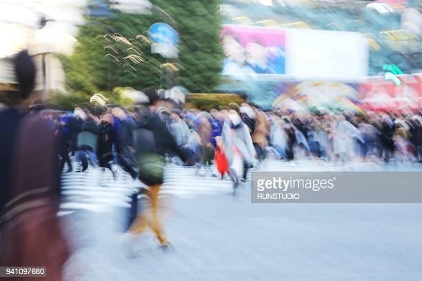 Pedestrian Crossing Tokyo, Japan