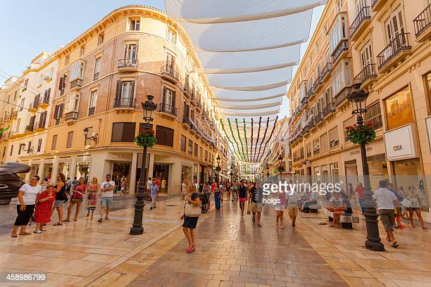 Pedestrian district, Malaga, Spain