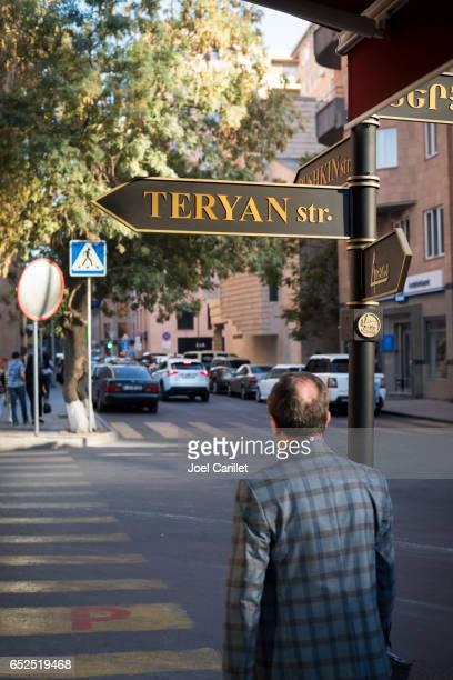Peatonal en Ereván, Armenia