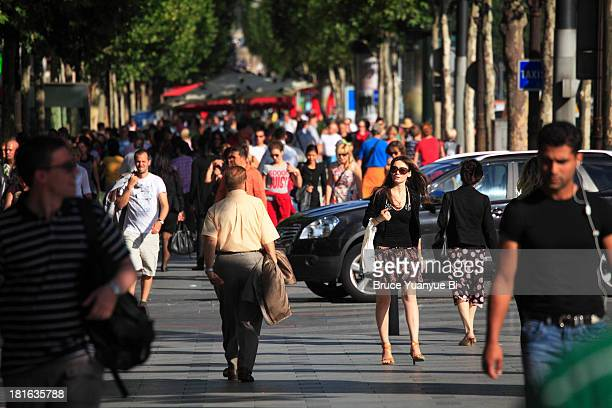 Pedestrian on Champs-Elysees Avenue