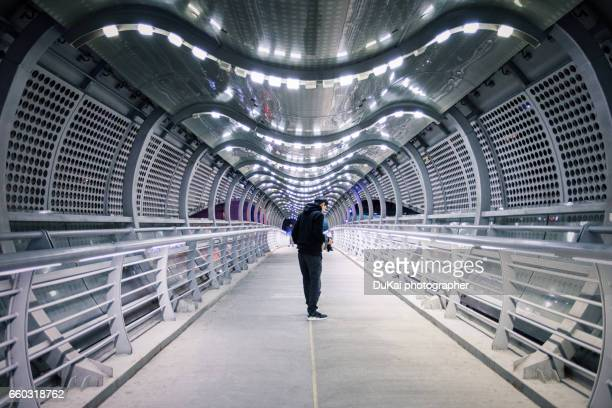pedestrian overpass - man made structure stock pictures, royalty-free photos & images