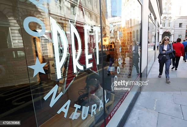 A pedestrian passes a Pret A Manger sandwich store operated by private equity firm Bridgepoint in London UK on Tuesday April 21 2015 Bridgepoint...