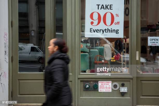 A pedestrian passes in front of a Lesak Paris store in the SoHo neighborhood of New York US on Friday Feb 9 2018 Bloomberg is scheduled to release...