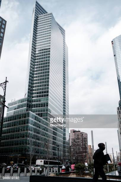A pedestrian passes in front of Goldman Sachs Group Inc headquarters in New York US on Thursday April 12 2018 Goldman Sachs Group Inc is scheduled to...