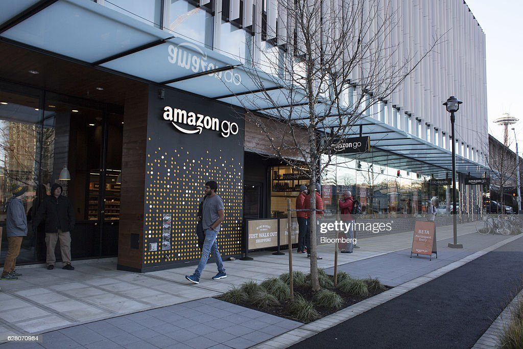 Amazon Go Grocery Store Eliminates Checkout And Lines : News Photo