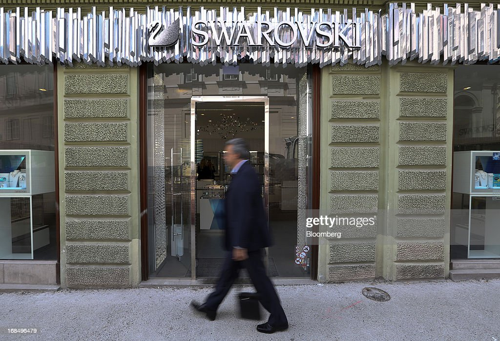 A pedestrian passes the entrance to a Swarovski store in Ljubljana, Slovenia, on Thursday, May 9, 2013. The Adriatic nation is seeking to fix its ailing lenders with a cash injection of at least 900 million euros ($1.17 billion) after Cyprus's bailout focused investors on countries with weak banking industries. Photographer: Chris Ratcliffe/Bloomberg via Getty Images