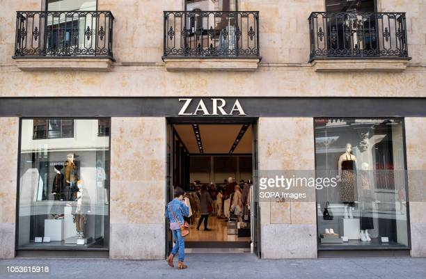 A pedestrian seen walking in a Spanish clothing manufacturing and brand Zara in Salamanca