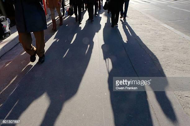 Pedestrian shadows, Paris