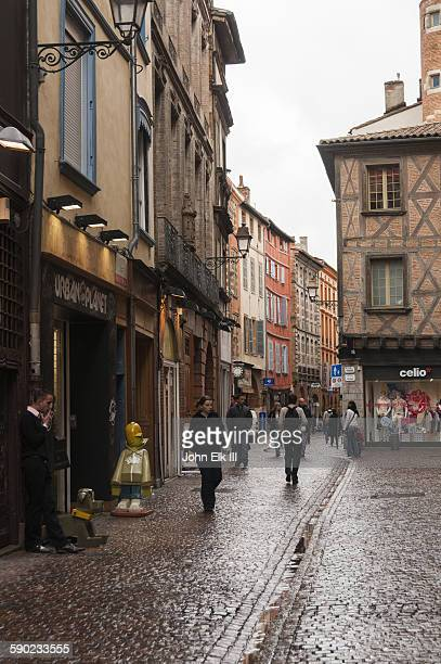 Pedestrian shopping street in Toulouse