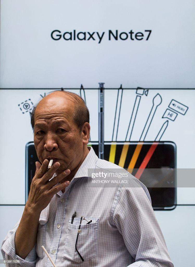 HONG KONG-SKOREA-ECONOMY-TELECOMMUNICATIONS-COMPANY-SAMSUNG-RECA : News Photo