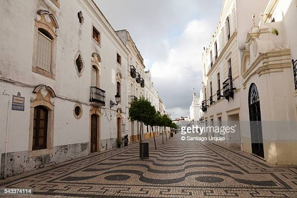 Pedestrian street in city of Olivenza