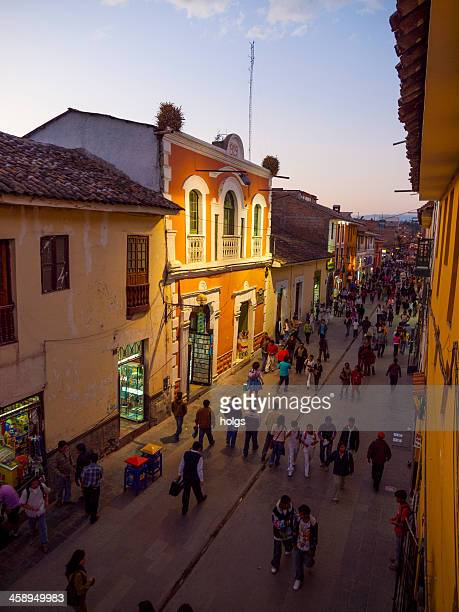 Pedestrian street in the historic part of Ayacucho, Peru