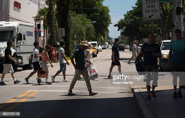 Pedestrian traffic on South Beach's Lincoln Road on August 19, 2016 in Miami, Florida. Florida Governor Rick Scott announced 5 cases of Zika in a 1.5...