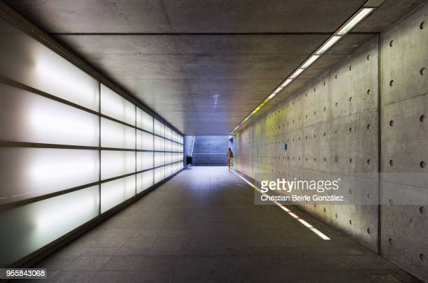 pedestrian underpass  - ravensburg train station - christian beirle stockfoto's en -beelden