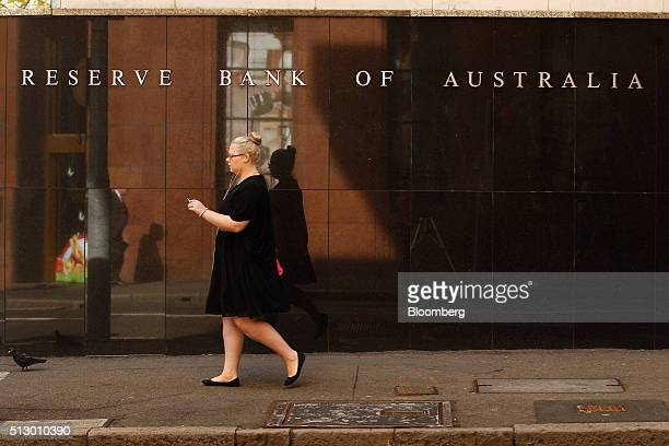 A pedestrian walk past the Reserve Bank of Australia headquarters in Sydney Australia on Monday Feb 29 2016 Australian wage rises are the smallest on...