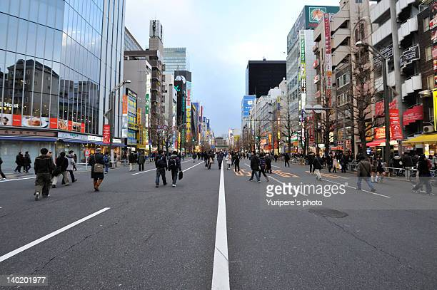 Pedestrian walking on Chuoh dori street