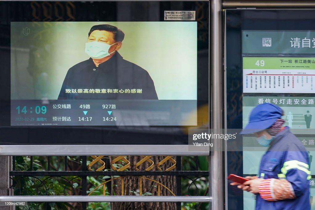 Daily Life In Shanghai Amid Coronavirus Outbreak : ニュース写真