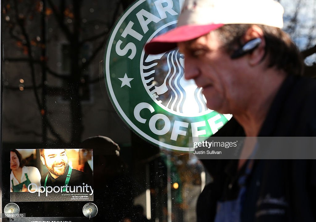 A pedestrian walks by a sign offering job opportunities at a Starbucks Coffee shop on January 4, 2013 in San Rafael, California. According to a Labor Department December jobs report, the U.S. unemployment remained the same from November at 7.8% as employers added 155,000 jobs in December.