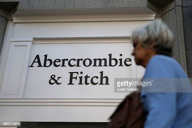 A pedestrian walks by an Abercrombie Fitch store on August 26 2015 in San Francisco California Abercrombie Fitch reported betterthanexpected second...