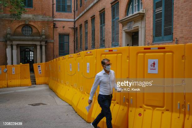 Pedestrian walks past a heritage building during a coronavirus outbreak on March 26 2020 in Hong Kong China Latest statistics showed Hong Kong...